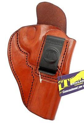 TAGUA IWB AIWB RH Brown Leather Concealment Holster - S&W L-FRAME REVOLVER 4