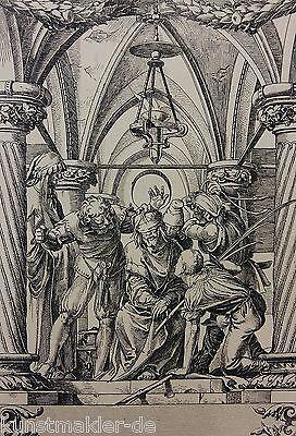 Hans HOLBEIN (1497-1543) Radierung Édouard Lièvre (1828-1886) La Passion 03/10