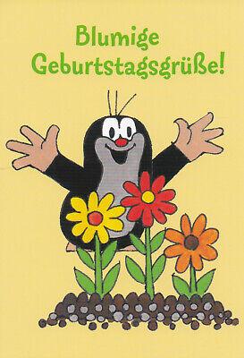Ansichtskarte: Der kleine Maulwurf und die Geburtstagsblumen