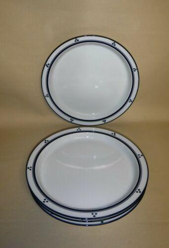 Dansk Bistro Dinner Plates ~ Fredriksborg Blue ~ 4 Pc