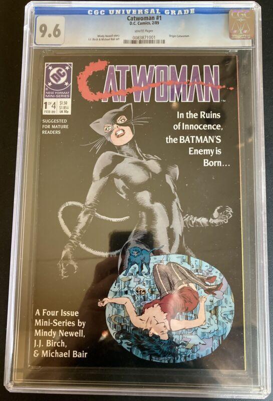 Catwoman #1 CGC Universal Grade 9.6 White Pages DC Comics 1989 Origin Catwoman