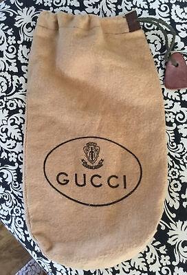 "Gucci Vintage Small Storage Dust Bag 12 X 7"" Drawstring"