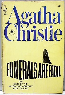 Funerals Are Fatal  Hercule Poirot  By Agatha Christie 1966 Vintage Pb Mystery