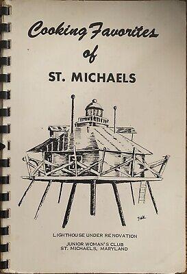 Vintage COOKING FAVORITES ST MICHAELS MD Junior Womans Club Advertising Cookbook