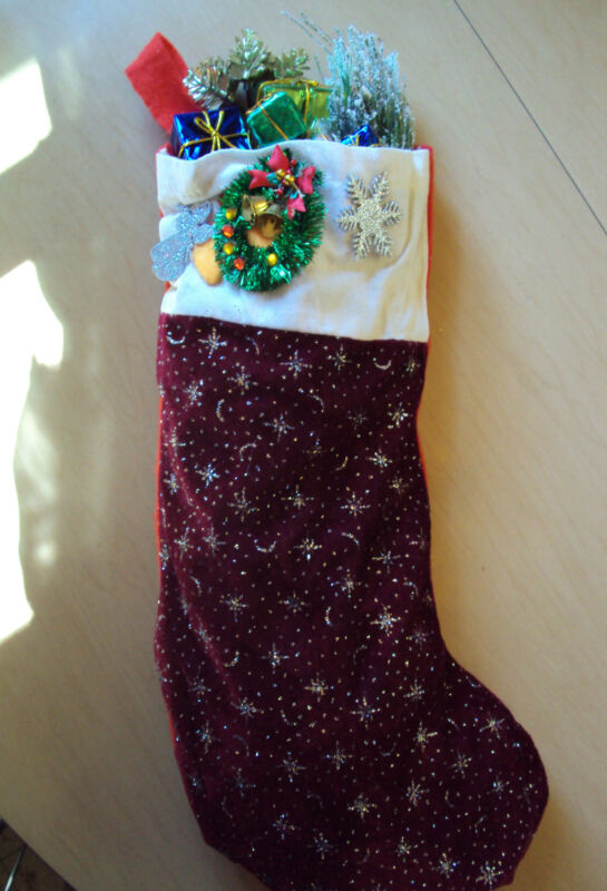 Beautiful Decorative Christmas Stocking Holiday Christmas Decor