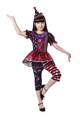 chen Groß, Mädchen/Kinder/Kinder-Abendkleid-Partei-Kostüm #DE (Clown Halloween Mädchen)