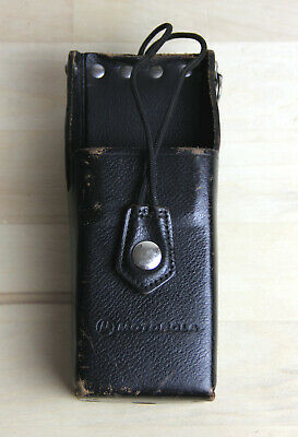 Motorola 1502171j02 Leather Two-way Radio Belt Holster Holder Pouch