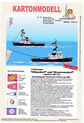 MDK-Verlag 7120 A - 2 Kartonmodelle - Schlepper Oldendorf  + Krummendorf - 1:250