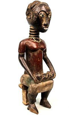 Art African Tribal - Maternity Colon Baoulé Seat - African Maternity - 34 Cm
