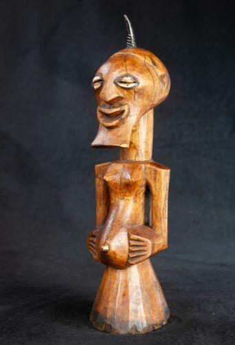 Songye Fetish Figure, Democratic Republic of Congo, Central African Tribal Art.
