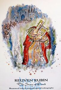 1971 REUVEN RUBIN THE STORY OF DAVID Signed Lithograph Art