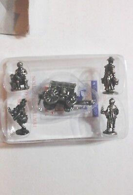 LIBERTY FALLS FIGURES 5-Piece Unpainted Metal Mini Figure Set PEWTER FIGURINES