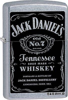 Zippo Windproof Street Chrome Jack Daniels Lighter, 24779, New In Box