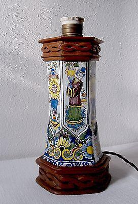 RARITÄT LAMPENFUSS PORZELLAN HAND ARBEIT UM 1900 Jh.