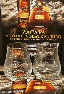 Ron Zacapa Rum glasses X TWO FREE POSTING