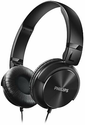 Philips Black DJ Style Wired On Ear Foldable Headphones
