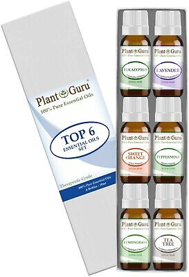 10 Ml Sampler - Essential Oil Set 6 - 10ml Gift Kit 100% Pure Therapeutic Grade Bulk Sampler Lot
