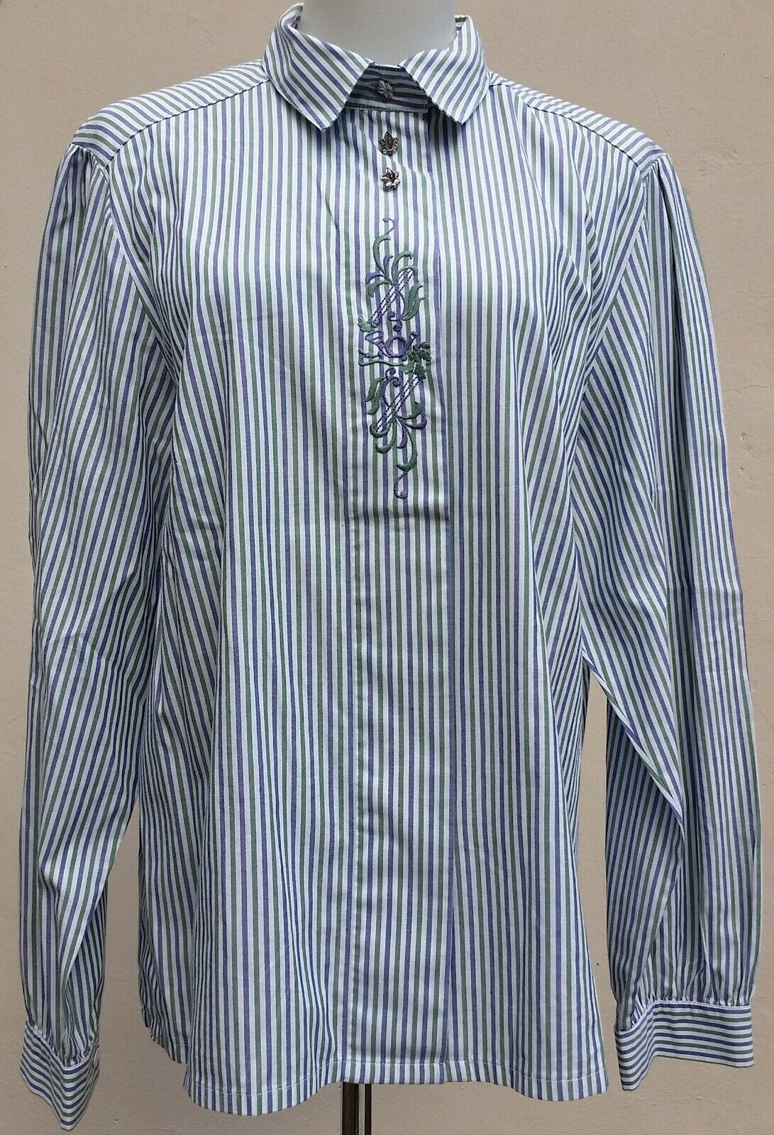 2 Stück Bluse Größe 44 Kragen Stickerei Tracht Kurz- und Langarm