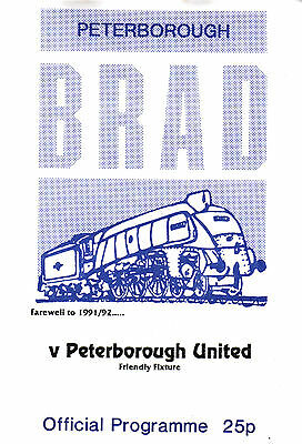 1991/92 Peterborough BRAD v Peterborough United, friendly - PERFECT CONDITION