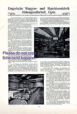 Waggon Fabrik Györ Ungarn XL Reklame 1914 Maschinenfabrik Waggonbau Raab Auto +