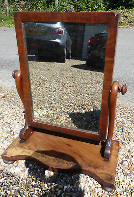 Original Vintage antique small dressing table top swing mirror.