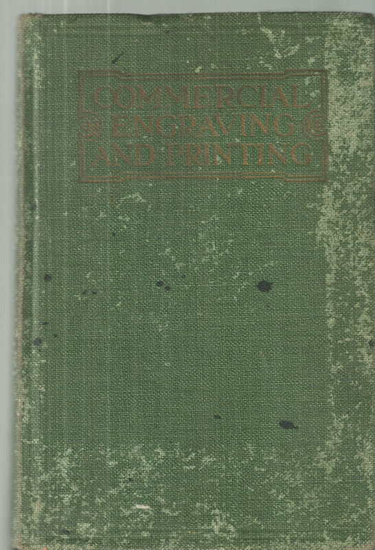 Commercial Engraving and Printing Lithography Vintage Textbook 1921