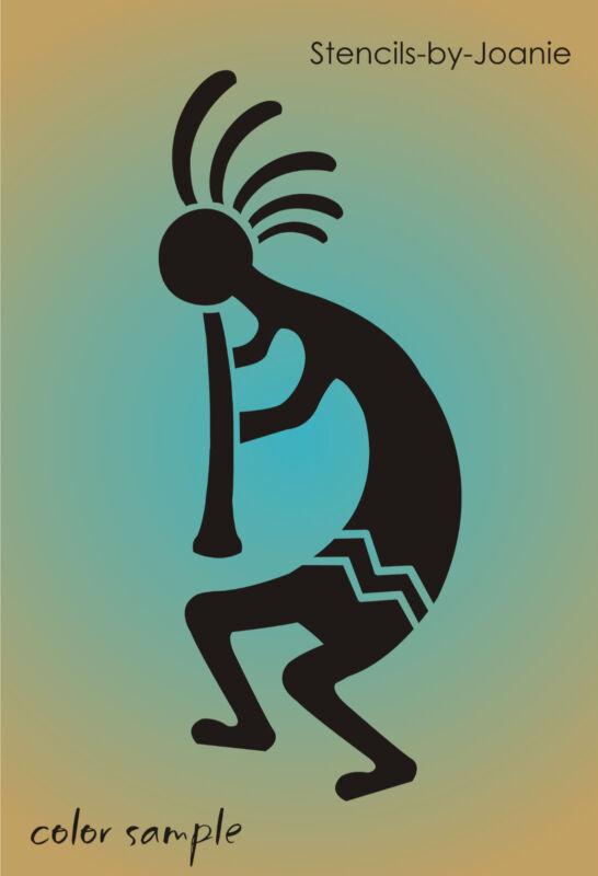 Kokopelli Stencil Southwest Aztec Flute Desert Player Dance Music Art Reversible