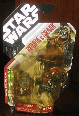 """STAR WARS 2007 30th ANNIVERSARY /""""COINS/"""" NAMES GREAT SHAPE FIGURE WEAPONS HASBRO"""