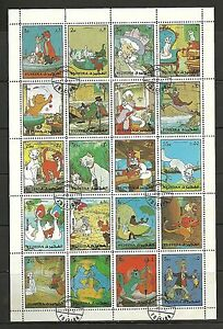 Fujeira - #44 - Disney - Aristocats, Aristogatti - Cartoons Sheet - Cpl - Used - Italia - Fujeira - #44 - Disney - Aristocats, Aristogatti - Cartoons Sheet - Cpl - Used - Italia