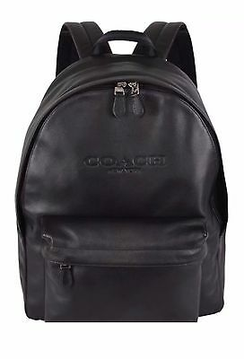 COACH Charles Backpack Soft Sport Calf Leather Black F54786 Large Size NWT