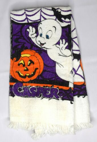 Vintage 90s Casper the Friendly Ghost Hand Kitchen Towel Halloween Decor Pumpkin