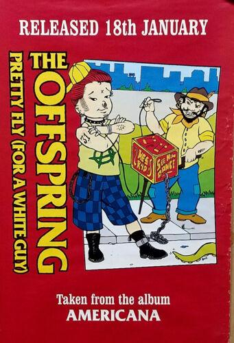 The Offspring 1998 Rare Frank Kozik Fly Guy Original Promo Poster