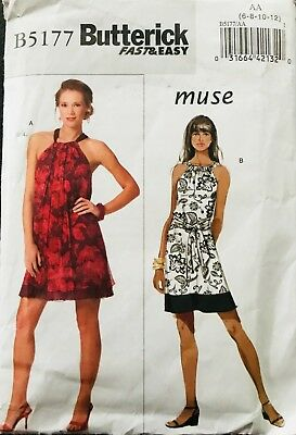 Butterick Fast and Easy Dress Pattern 5177~Cut~Complete~All sizes usable~sz 6-12