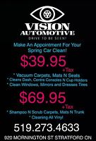 Spring vehicle detailing specials!!!