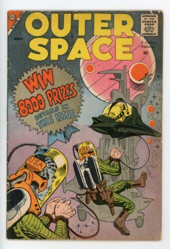 OUTER SPACE #21  Charlton 1959 - Steve Ditko & Matt Baker Art - VG-