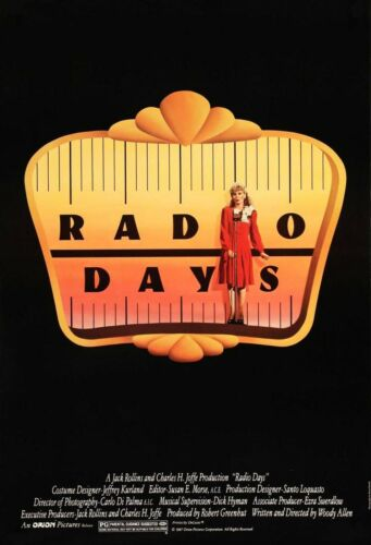 RADIO DAYS (1987) ORIGINAL MOVIE POSTER  -  ROLLED