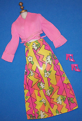 Vintage Barbie BEST BUY FASHIONS #8683 Pink Blouse Top RARE VARIATION 1973