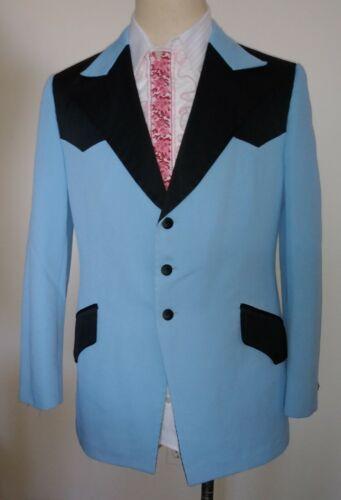 Vintage Western 2 Tone Tuxedo Jacket Blue Size 42 After Six