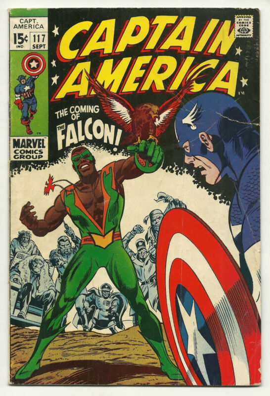 Captain America 1969 #117 Very Good 1st Falcon