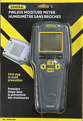 General Tools Mmd7np Pinless Non-invasive Non-marring Digital Moisture Meter