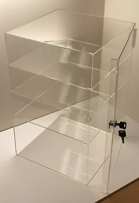 Acrylic Counter Top Display Case 8x 8 X16locking Cabinet Showcase Boxes