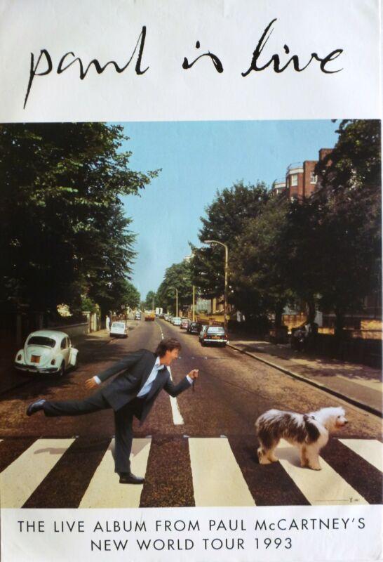 "PAUL McCARTNEY ""PAUL IS LIVE -NEW WORLD TOUR 1993"" U.S. PROMO POSTER-The Beatles"