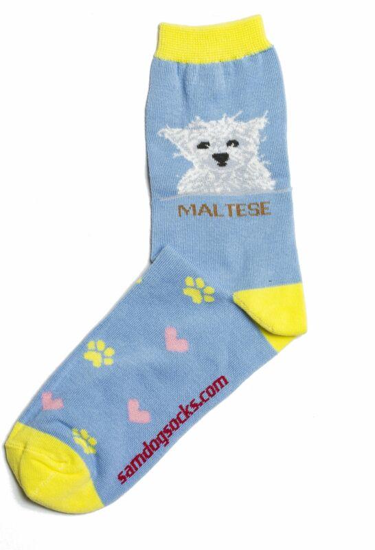 Maltese Dog Socks