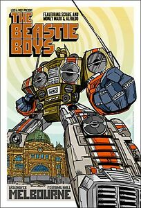 BEASTIE BOYS MELBOURNE 2005 CONCERT POSTER Open Editi