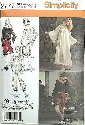 Simplicity 2777 GOTH Arkivestry Cosplay Bloomers Gown Sz 14-22 Steampunk Costume