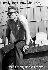 JAMES DEAN RARE HOT MOTIVATION FAMOUS QUOTE POSTER