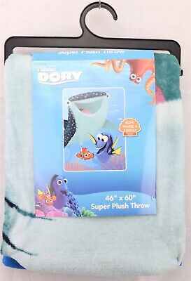 Pixar Finding Dory Destiny Marlin Super plush Throw Blanket 46x60 with hanger