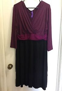Size 16 / XL - 1X Purples and Black Dress