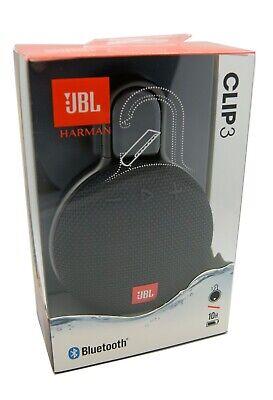 JBL Clip 3 Bluetooth Portable Wireless Speaker Waterproof - Black NEW