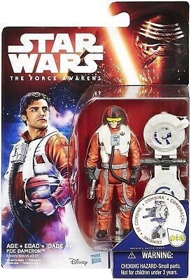 "Hasbro Star Wars The Force Awakens POE DAMERON Space Mission 3.75"" figure NEW"